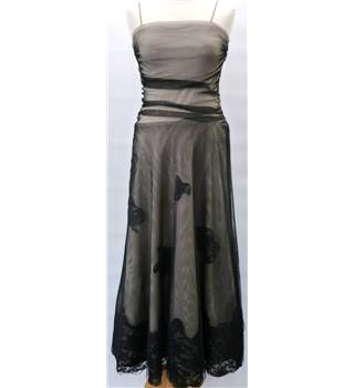 BNWT - J S Collection from the House of Fraser - Size: 8 UK - Black and Beige - Ladies' Cocktail/Evening/Special Dress