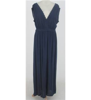 NWOT M&S Size: 10 - Blue crinkle maxi-dress