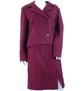 Pablo Gerard Darel - Size: 14 - Red - Virgin wool Mix - Double Breasted Skirt suit | Oxfam GB | Oxfam's Online Shop