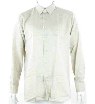 "Clydella - Size: 46"" - Beige Dress Shirt"