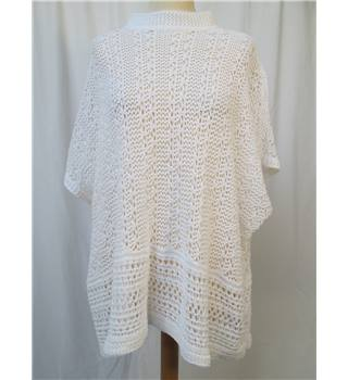 Topshop - Size: S - White Open Knit - Short sleeve Jumper