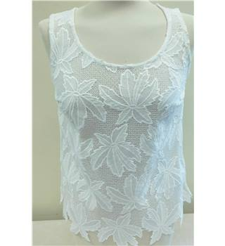 Indigo Collection @ M&S - Size: 8 - White - Lace Sleeveless top