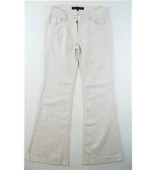 French Connection  size 8  nude ramie trousers