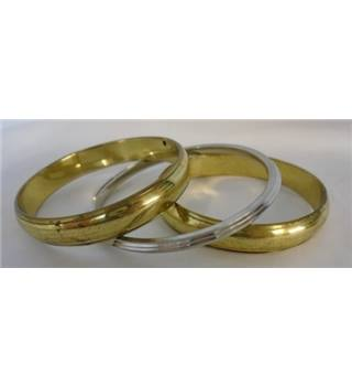 Unbranded - Size: Large - Gold And Silver - Bangles