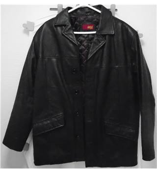 Detail Leather - Black Leather Jacket - Size M Detail Leather - Size: M - Black