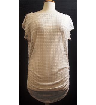 BNWT Jordan Taylor Size L  White Net Min Dress.