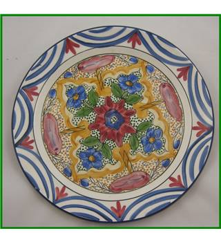Hand painted - hanging decorative plate