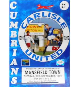Carlisle United v Mansfield Town - Division 4 - 17th September 1991