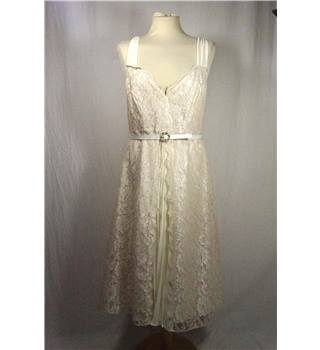 White Lace Lined Dress from Pearce Fionda in UK size 12