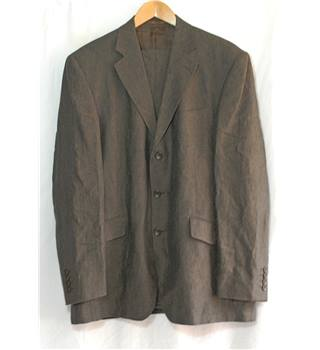 Ultimo  Brown/Black Linen L/W  2 Piece 42R Suit
