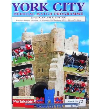 York City v Carlisle United - Division 3 - 2nd January 1993