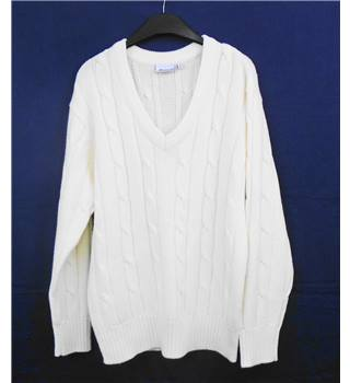 Patrick cream cricket jumper Size S