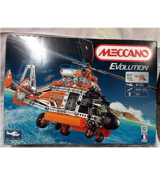 MECCANO Erector *EVOLUTION* Helicopter MOTORIZED Building Model #8210 Meccano REDUCED!!!  £149.99