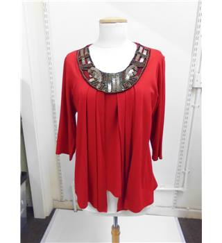 women's bassini red top Bassini - Size: M - Red - Long sleeved shirt