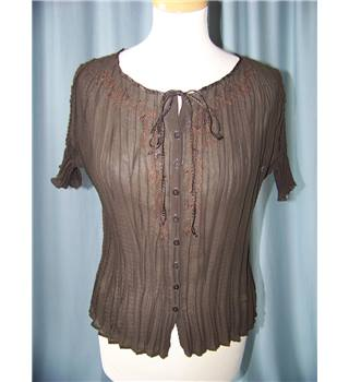 M&S Marks & Spencer - Size: 12 - Brown - Blouse