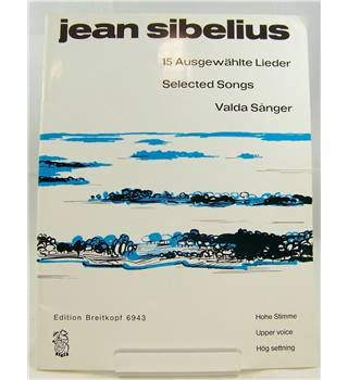 Sibelius 15 Selected Songs. High Voice.