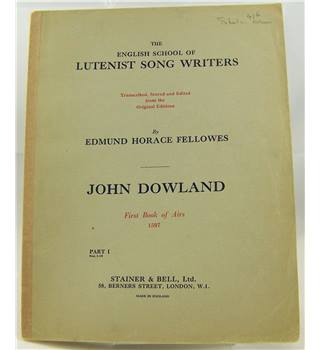 John Dowland - First Book of Airs 1597.