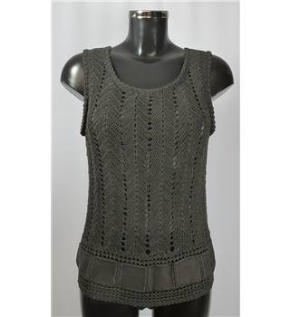 Sleeveless Top - Brown - Size S Unknown, labels removed - Size: S - Brown - Vest