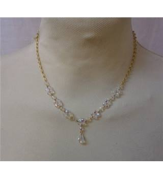 Unbranded - Size: Small - White & Gold- Necklace