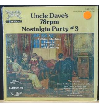 Uncle Dave's 78 Rpm Nostalgia Party #3 Various - S.H.2056