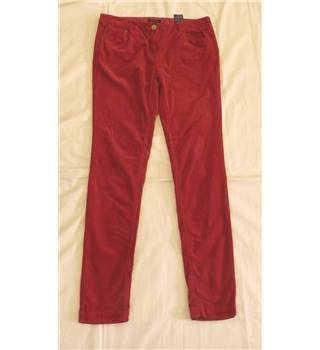 Tommy Hilfiger Red Corduroy Trousers Size 8 Tommy Hilfiger - Size: S - Red - Trousers