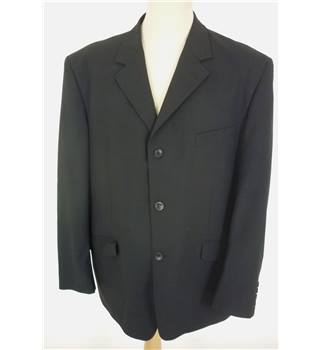 "Paul Andrew Size: XL, 46"" chest, regular fit Black Smart/Stylish  Wool Blend Designer Single Breasted Jacket"