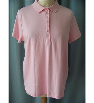 Lands End - Size: M - Pink - Polo shirt