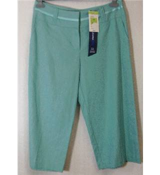 M&S Marks & Spencer - Size: 12 - Blue - Cropped trousers