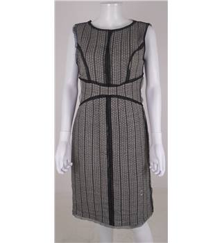 Fendi Size 10  Grey And Black Textured Dress