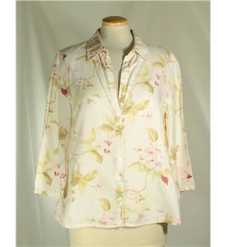 Kaliko Size 14 Cream with pink and brown floral top