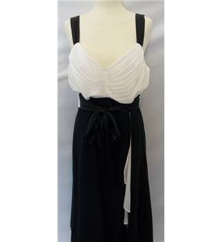 BHS Size 16 Black & White Evening Dress