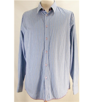 Dunnes size: M blue / white striped long sleeved shirt
