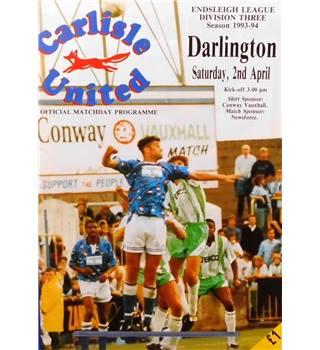 Carlisle United v Darlington - Division 3 - 2nd April 1994