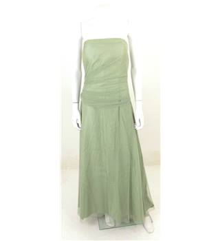 Vera Wang Maids - size: 10, green, strapless, full-length dress