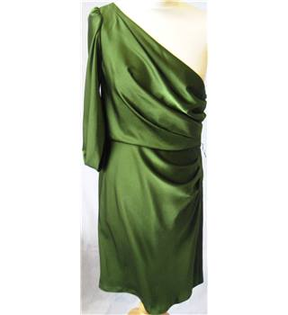 BCBG Max Azria size: 10 green asymmetrical cocktail dress