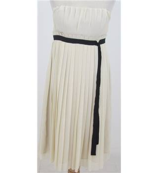 Next: Size S: Ivory pleated cocktail dress