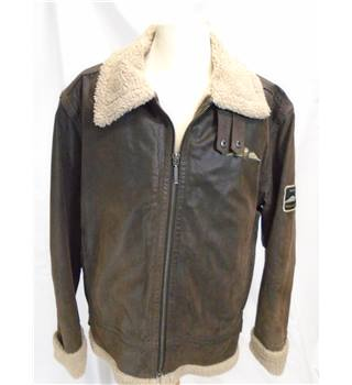 Royal Airforce - Size: XL - Brown - Leather jacket