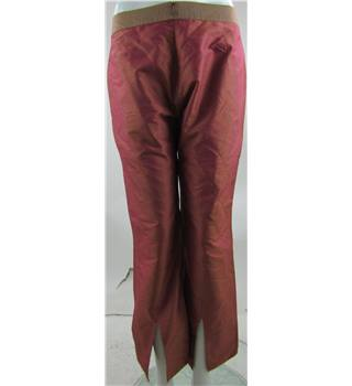 "Ted Baker - Size: 30"" Pink Silk - Trousers"