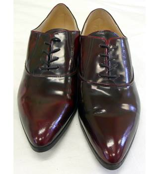 Autograph - Size: 6.5 - Black/Burgundy - Men's Lace-up flat shoes