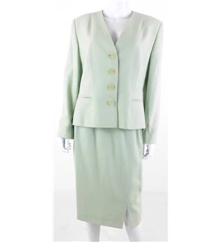 Vintage 1990s Circa Size 12 Country Casual Pale Green Skirt Suit