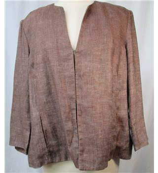 Austin Reed - Size: 18 - Brown - Linen Jacket