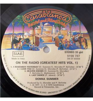 Greatest Hits On the Radio Volumes I & II Donna Summer - Stereo 6685 049