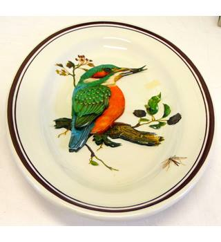 Decorative tableware plate from W H Grindley Staffordshire England - titled Alpha 27 KoKo