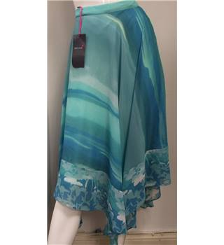 Per Una Women's Size 16 Light Blue and Green  - Size: 16 - with variable hem - line
