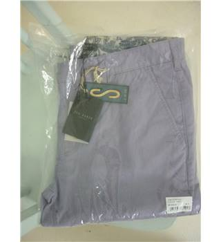 "Ted Baker Size: L, 36"" waist, 33"" inside leg Lilac Casual/Stylish Cotton Slim Leg Chinos"
