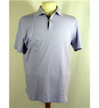 Cotton Short Sleeve Lavender Top from Guy Laroche in Medium size