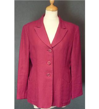 Unbranded Size L red Linen Coat Unbranded - Size: 14 - Red - Smart jacket / coat
