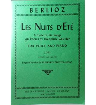 Berlioz - Les Nuits d'Ete. Voice and Piano.