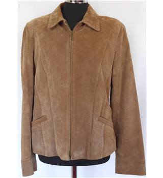 75b7939399754 WS Leather Size S Quality Tan Coloured Leather Jacket