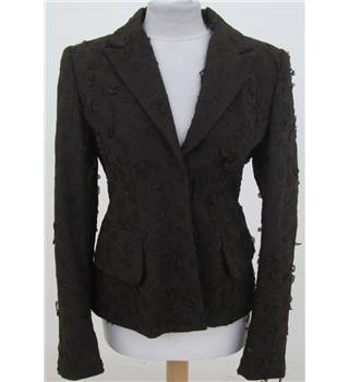 BNWT Yulan Size:S dark-brown smart jacket